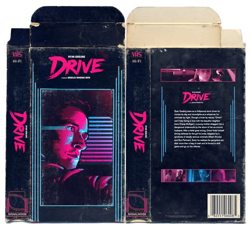 Drive VHS retro packaging design