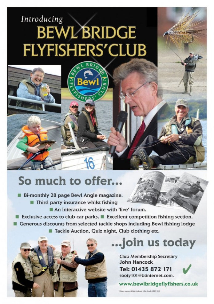 Poster for Kent Flyfisher's Club shows shots of fishing