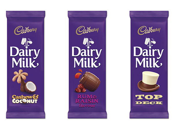 Photo image of Cadbury Dairy Milk's new packaging design