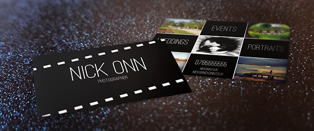 Photographers business card free template tutorial photographers business card front back reheart
