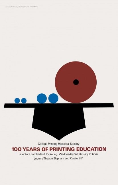 100 Years of Printing Education poster
