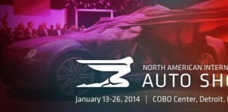 Poster banner for Detroit Auto Show in 2014