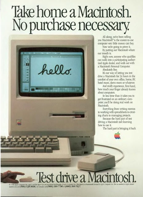 Take home a Macintosh print advert