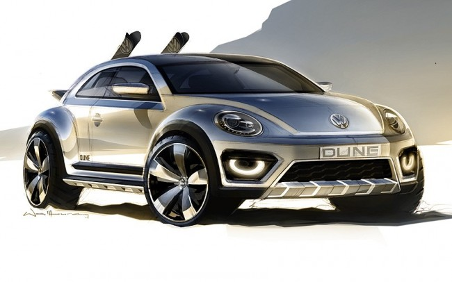 VW Beetle Dune concept car design sketch