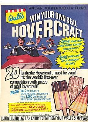 Wall's hovercraft competition retro poster