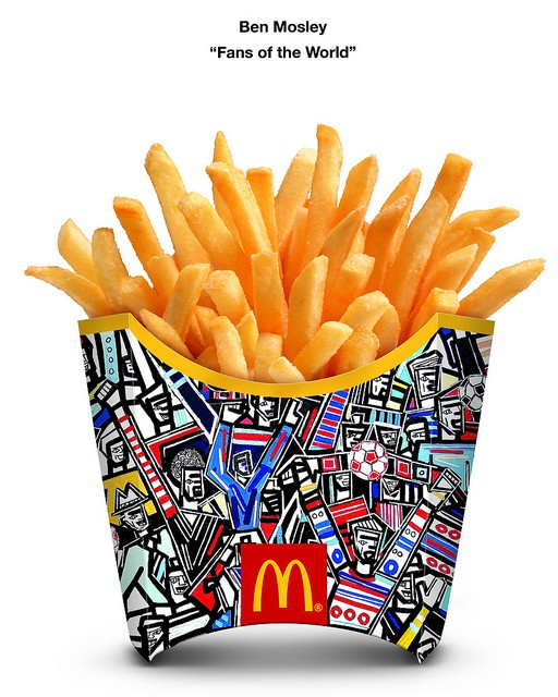 Mcdonalds fries packaging by ben mosley