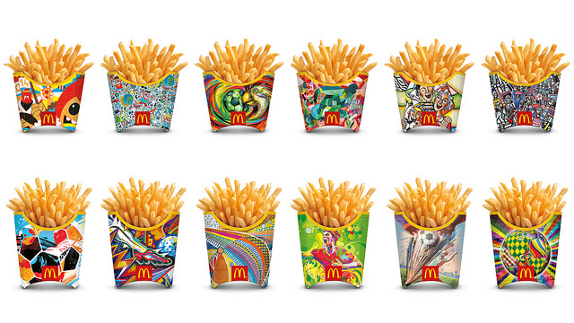 Mcdonald's World Cup 2014 French fries packaging