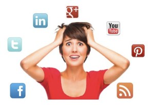 don't overwhelm with your social media accounts