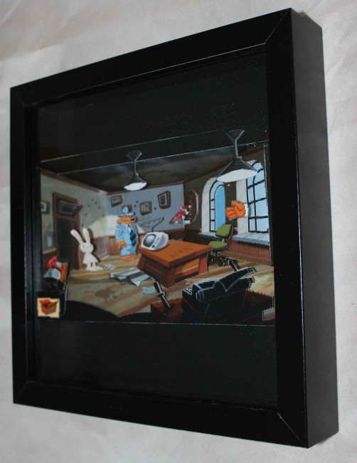 Sam & Max Hit The Road 3D paper diorama