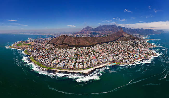 Breath-taking view of Cape Town