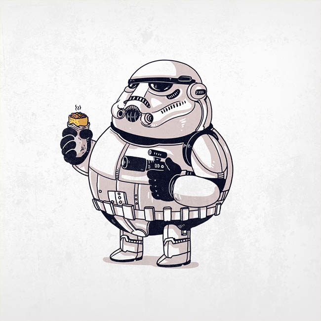Sketch of a very obsese Stormtrooper.