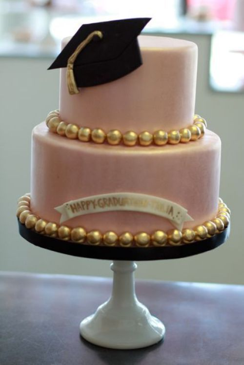 Sweet and Saucy shop graduation cake