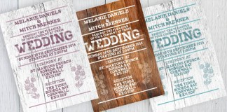 photoshop rustic eco wedding invitation