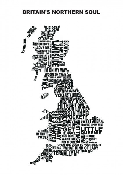 Britain's Northern Soul Art A2 poster print