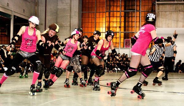 Roller derby marketing for teams like this one in Toronto Canada