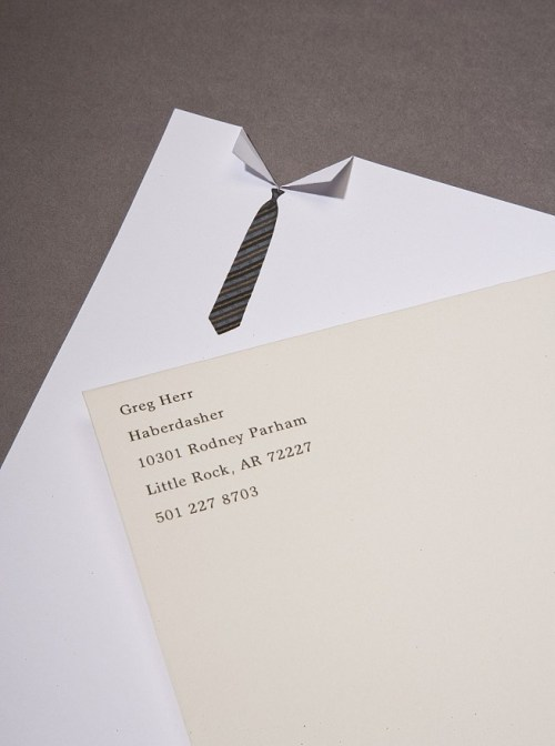 creative letterhead design for an american haberdasher