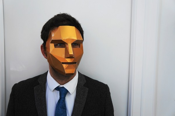 3D polygon face mask