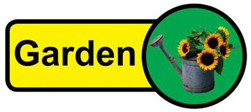 dementia friendly print garden sign
