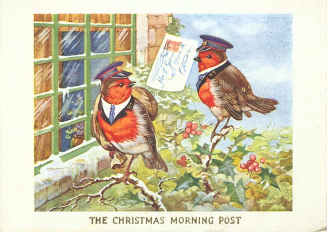 Robin Postman Christmas Card