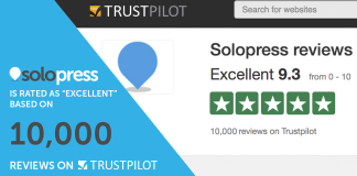 Solopress receives 10000 reviews