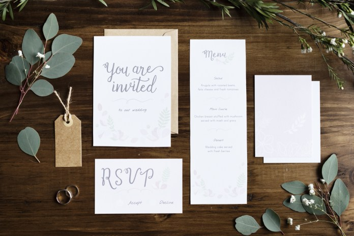 writing wedding invitations