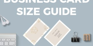 Business Card Size Guide