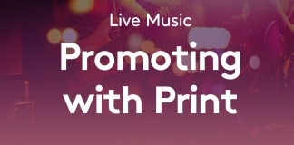 Promoting live music with print