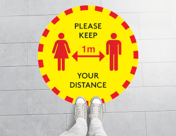 1m Social Distancing Floor Sticker