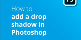 How to add a drop shadow PS header image