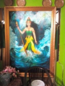 Keterangan foto: salah satu lukisan kanjeng ratu kidul koleksi Kusuma/ Foto: koranjuri.com
