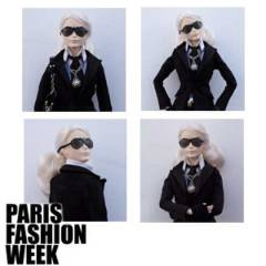 Barbie se transforma en Karl Lagerfeld