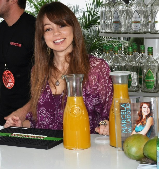Food Network's Chef Marcela Valladolid Prepares to Make Mango Margaritas, 2010 SoBe Wine & Food Festival