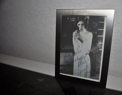 Autographed Carrie Fisher Photo as Princess Leia, 1977