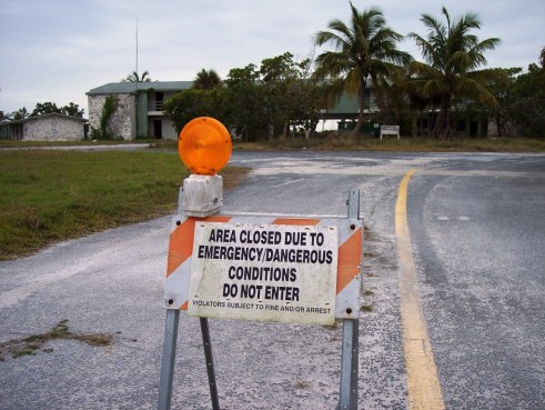 Flamingo Lodge in Everglades National Park, Condemmed Following Hurricanes Katrina and Wilma. Photo Taken in 2008.