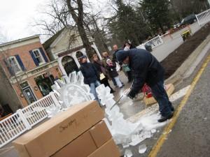 Ice Carving, Niagara Icewine Festival 2010