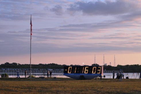 Early Morning at the Kennedy Space Center Press Site, May 16, 2011