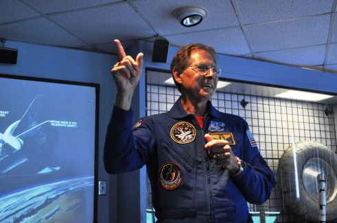 NASA Payload Specialist Samuel T. Durrance (Ph.D.) Speaks to ATX Participants