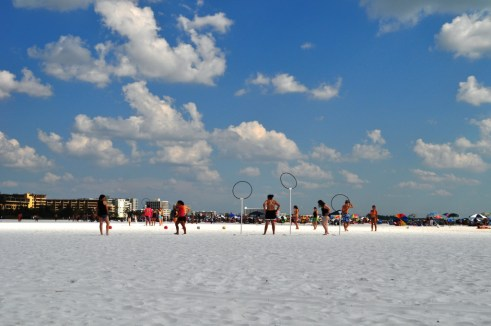 Kids Playing Quidditch on Siesta Key Beach, Sarasota, Fla.