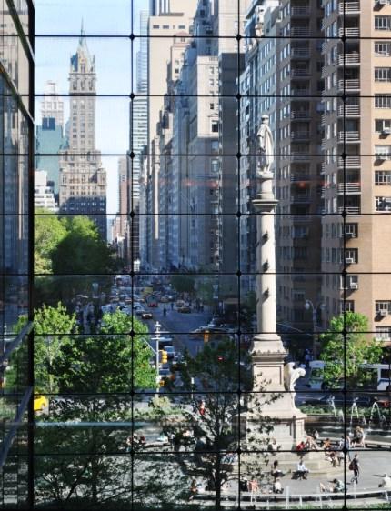 View of Columbus Circle, New York City, April 17, 2012