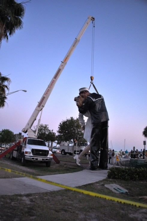 "Crew Works on ""Unconditional Surrender"", Sarasota, Fla., April 26, 2012"