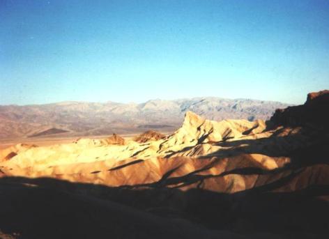 Zabriskie Point in Death Valley National Park, Calif.