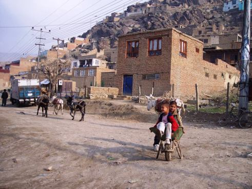 Children in a Kabul, Afghanistan, Neighborhood, March 2006