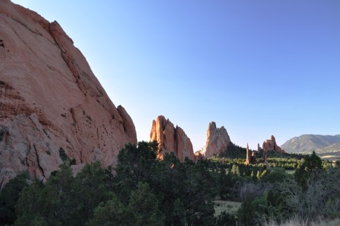 Sandstone Rock Formations Stand 300 Feet at Garden of the Gods