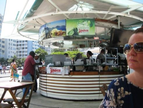 One of the Food Kiosks on Copocabana Beach, Rio de Janeiro, Brazil