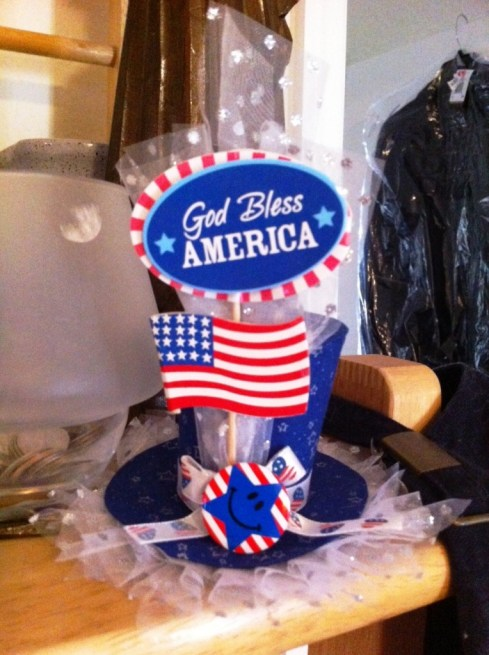 God Bless America Fascinator by Taffy Retta