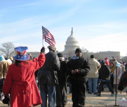 Yes, I'm Like a Patriotic Country Song. First and Foremost, I'm an American. Image: 2009 Presidential Inauguration