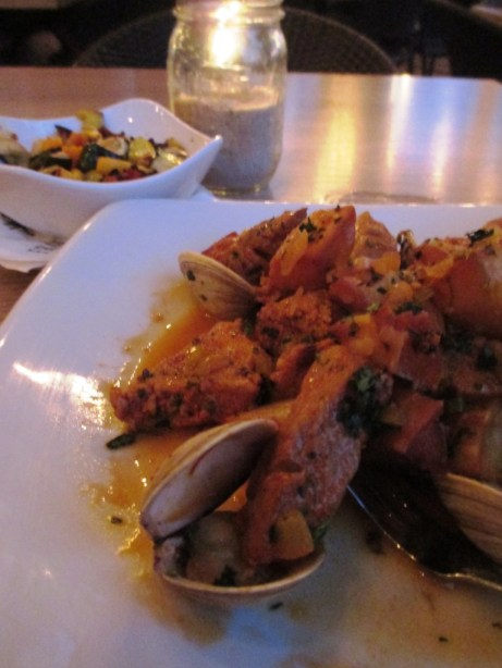 Fried Pork, Clams and Potatoes at The Front Porch, Tallahassee, Fla.