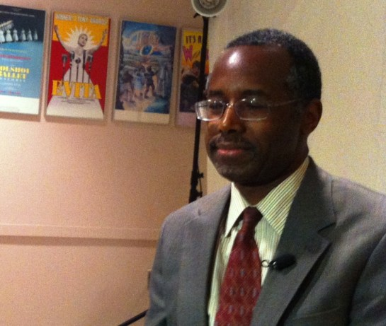 Dr. Ben Carson Before the Press Conference in Sarasota, Fla., Feb. 27, 2013