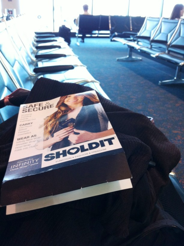 My SHOLDIT Clutch Wrap Purse is Ready for Departure from SRQ