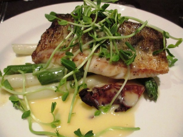 Delish Local Asparagus Complements the Lake Erie Pickerel, Chilled Cork Restaurant